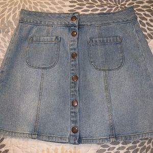 Button Down Brandy Melville Denim Skirt
